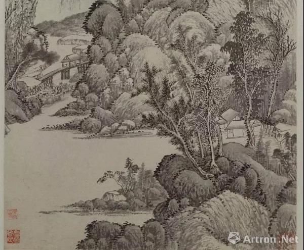 吴历 《拟古脱古图》 故宫博物院藏