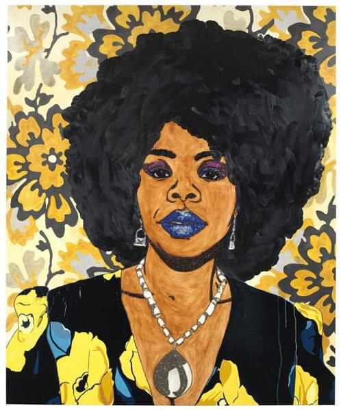 Mickalene Thomas, Din, a very beautiful black woman #1, 2012