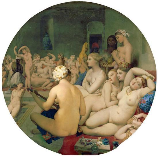 J-A-D·安格尔(1780-1867)《土耳其浴室》,1859-1863年,卢浮宫博物馆。