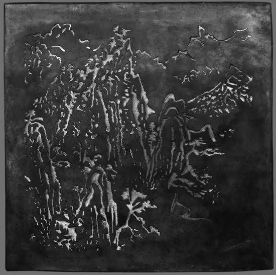 考夫曼御窑金砖系列作品-《景观,山4》