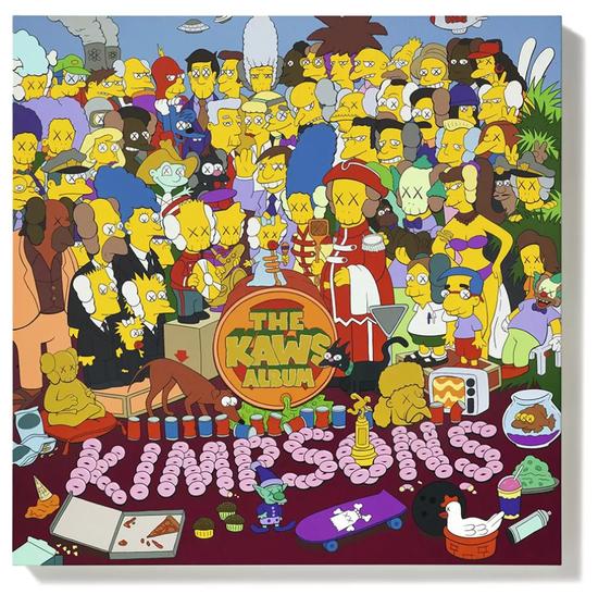KAWS《THE KAWS ALBUM》2005年作 压克力画布 101.6×101.6cm