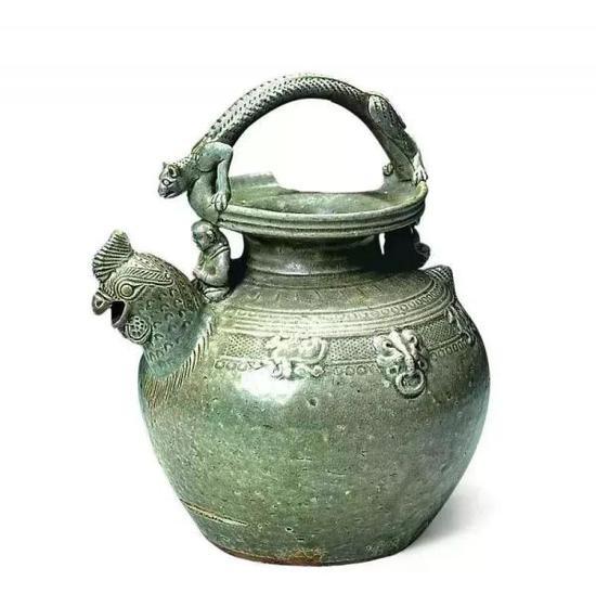 越窑青瓷鸡首壶 余姚市文物保护管理所藏