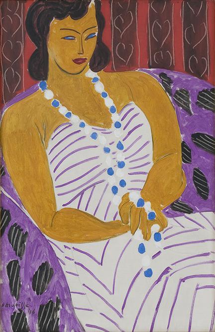 《穿白裙的女士》,亨利·马蒂斯,这件作品将在默里尔策划的展览上出现