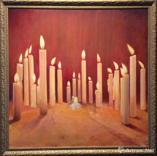 烛光 袁浩 150x150cm 布面油画 2011年