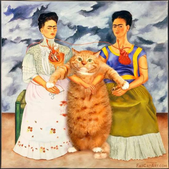 Two Fridas and One Cat