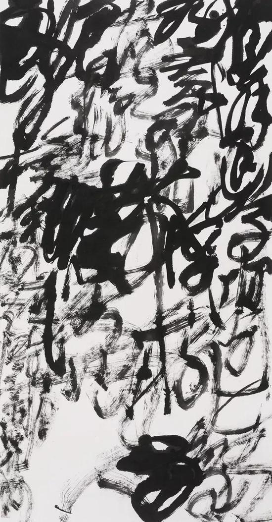 王冬龄 Wang Dongling 乱书·韦庄诗·江雨霏霏 Chaotic Scribbling·Wei Zhuang·Heavy Rain 纸本水墨 Chinese Ink on Paper 97×180cm 2017