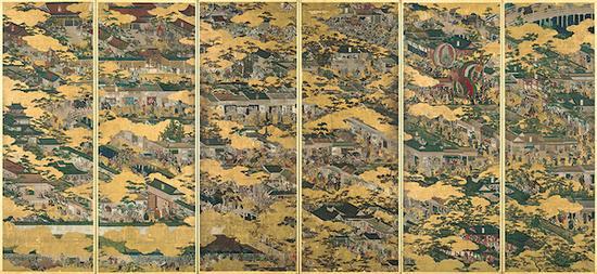 国宝 岩佐又兵卫画 洛中洛外图屏风(舟木本) 江户时代(17世纪) 东京国立博物馆藏