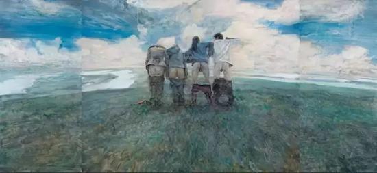 《青春》,布面油画,160×360cm,2007年作上海泓盛2011年春拍442万元成交