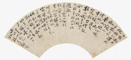清,郑燮,《行书扇页》