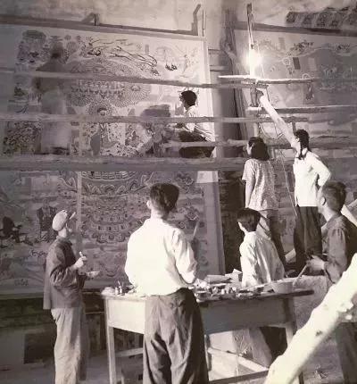 1946年,《常书鸿父女画展》在兰州举办。