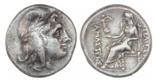 阿玛斯特里丝银币,土耳其阿玛西拉,公元前300-前285年