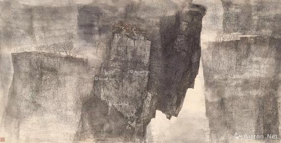 17 李华弌 1999年作 野演 纸本设色 HKD 1,600,000-2,200,000