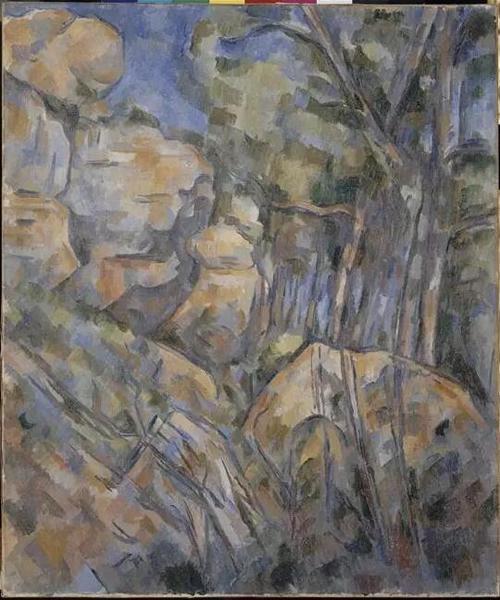 《黑城堡之上的山洞附近的峭壁》
