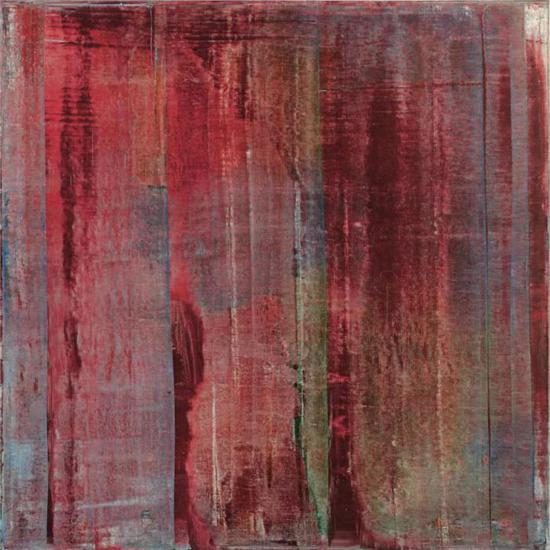 格哈德·里希特(Gerhard Richter)《胭脂红》   款识:画家签名、纪年1994并标记810-1(背面)   油彩画布   200 x 200 公分