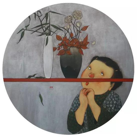 《花香》 直径120cm 布面丙烯 2015