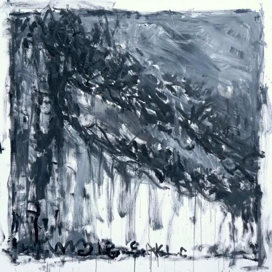 颜鸿,风景4,220x220cm,亚麻布面丙烯 ,2018