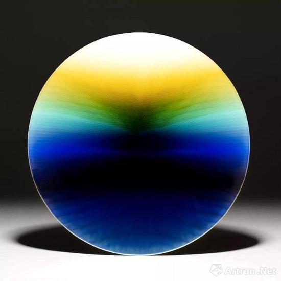彩釉瓷盘,德田八十吉 三代 (Tokuda Yasokichi III,1933–2009), 1992年
