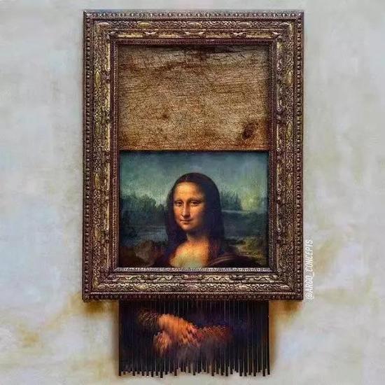 网络上被 Banksy-ed 的《蒙娜丽莎》