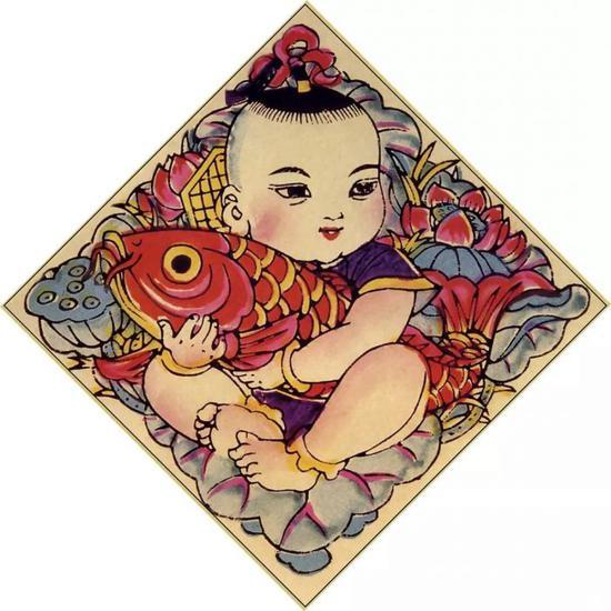 连年有余 杨柳青年画