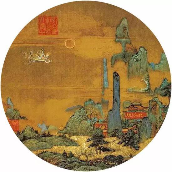 《仙山楼阁图》宋 佚名 绢本设色 台北故宫博物院藏