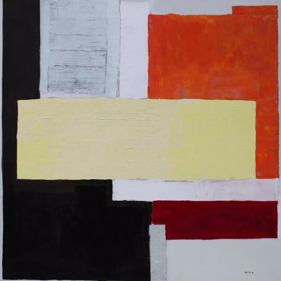 图画展览会,Pictures at an Exhibition ,综合材料, Mixed Media on Canvas,200X200cm,2012