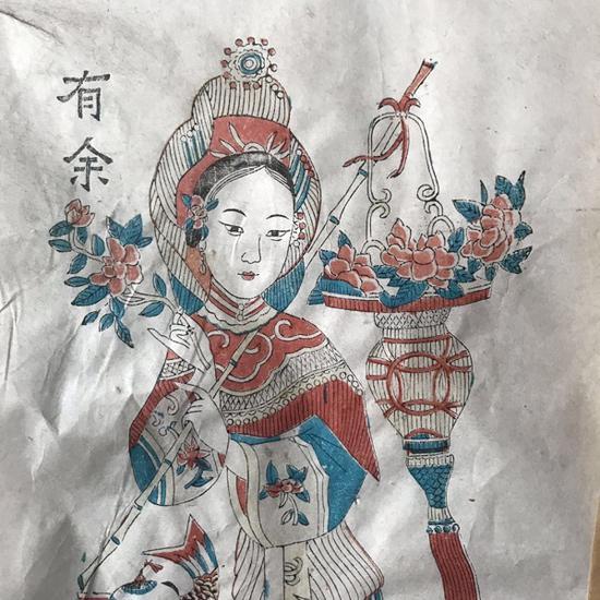 杨家埠年画局部