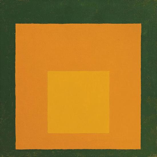 约瑟夫·亚伯斯Josef Albers 《向方形致敬》