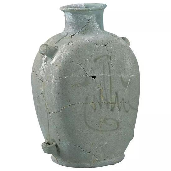 青釉绿彩阿拉伯文扁壶