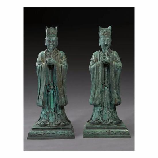纽约亚洲艺术周 战国青铜琉璃方壶成交五千多万元