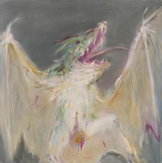 吸血蝠 110x110 布面油画 2008