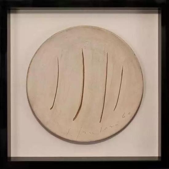 Concetto spaziale,1960,Ceramic,17 indiameter