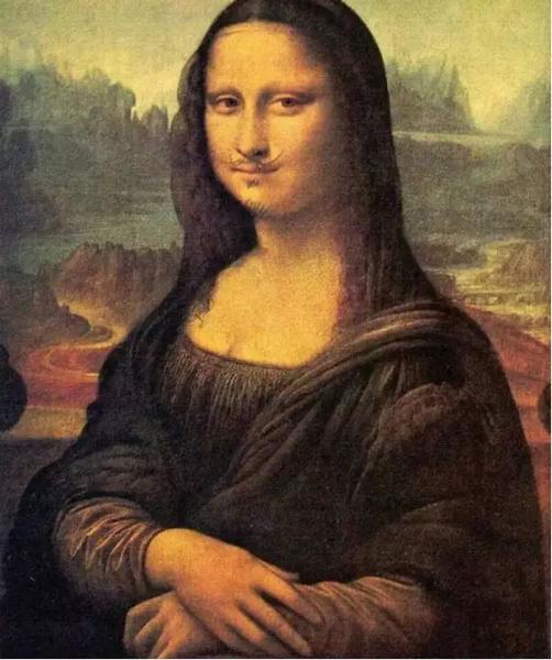 杜尚《带胡须的蒙娜丽莎》