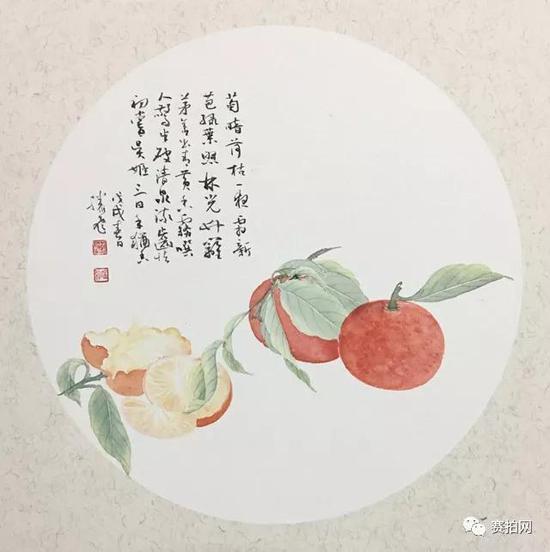 滕飞 《蜜橘》直径28cm 2018
