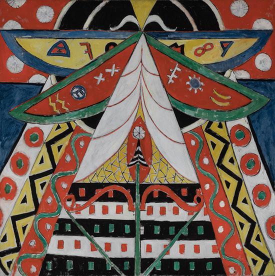 马斯登·哈特利《第50号绘画》(局部)特拉美国艺术基金会