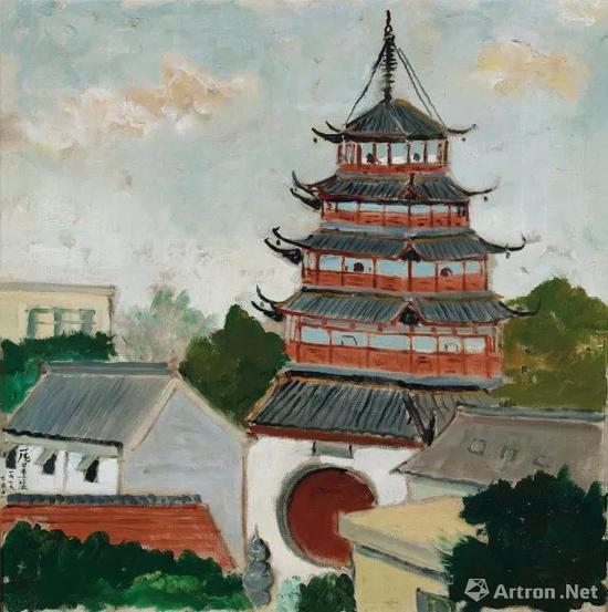 庞薰琹 《文峰塔》1782.5万元 中国嘉德