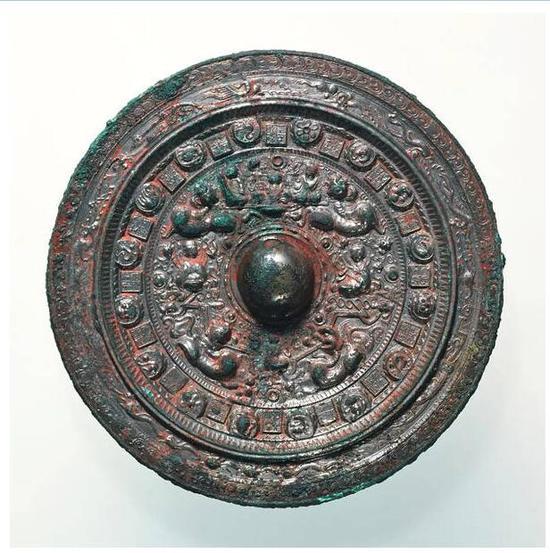 三角绿四神四兽镜 三国时代 重要文化财