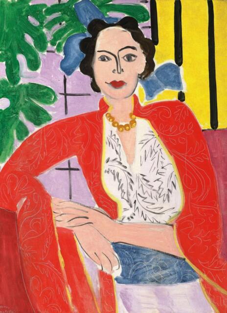 《戴琥珀项链的女人》在佳士得拍卖