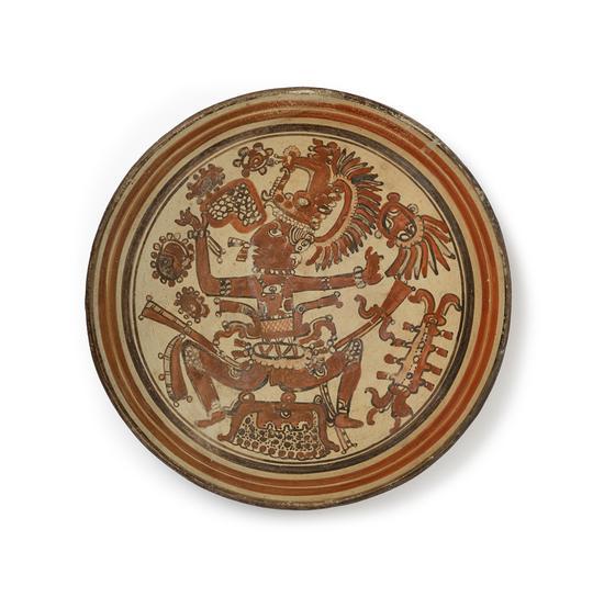 君王纹陶盘