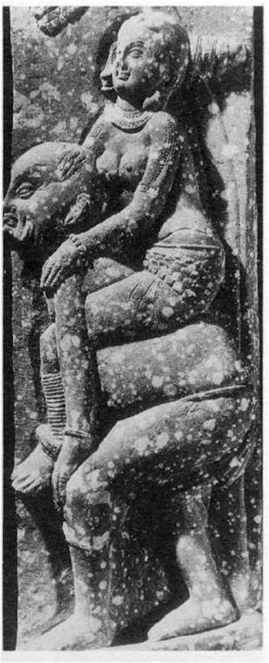 """贵霜时期的栏柱雕刻,是《大唐西域记》中""""驾肩而还""""细节在犍陀罗地区的体现"""