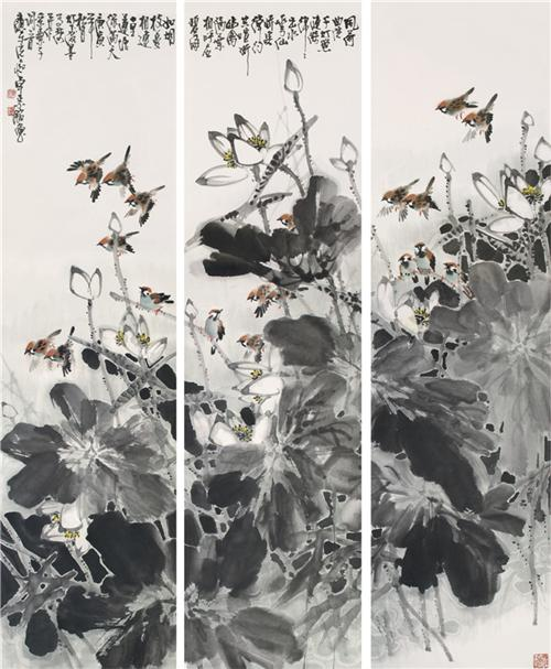 《荷塘清风》 180×150cm 2010年