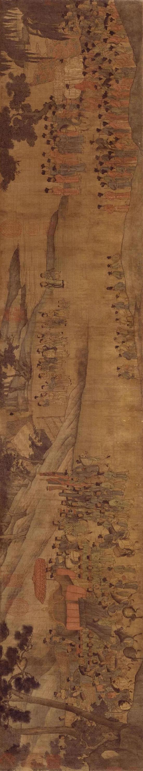 宋《人物故事图》所绘故事是否为迎接徽宗梓宫