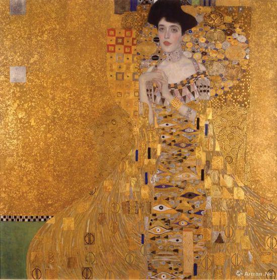 古斯塔夫·克里姆特,《艾蒂儿肖像一号》(1907)。