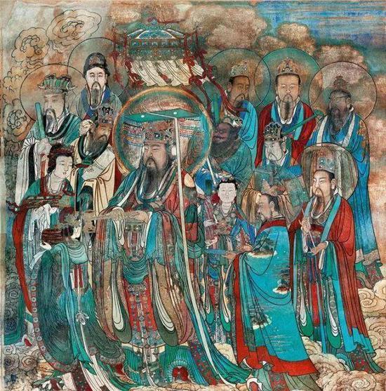 ▲永乐宫壁画 《朝元图》