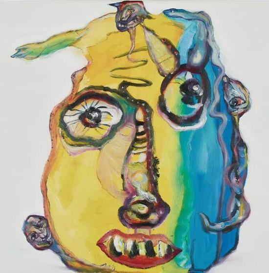 黄药 黄色幻想 油画 50x50 2016