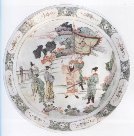 五彩人物纹大盘,清康熙(1662-1722) 江西省博物馆藏