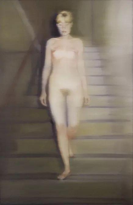 """格哈德・里希特""""照片绘画""""《Ema (Nude on a Staircase) 1966"""