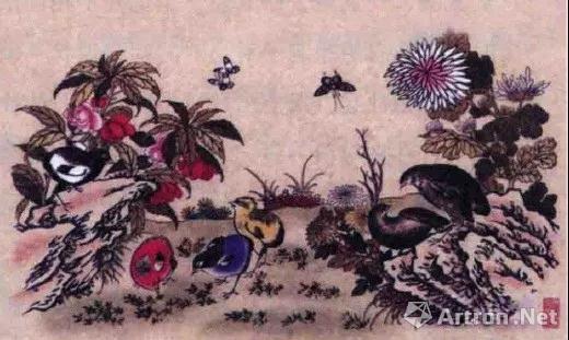 清代杨柳青年画《安居乐业》