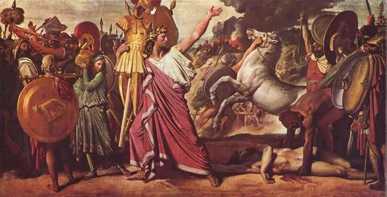 罗慕路斯,阿克隆的征服者材质:油画作者:安格尔年代:1812年