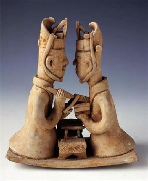 西晋文吏俑 墓为永宁二年(公元302) 湖南省博物馆藏