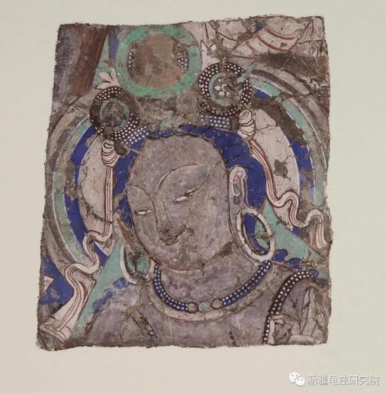 天人头部 克孜尔第38窟 现藏德国柏林亚洲艺术博物馆